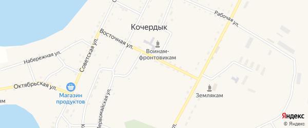 Северный переулок на карте села Кочердыка с номерами домов