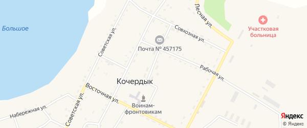Школьная улица на карте села Кочердыка с номерами домов