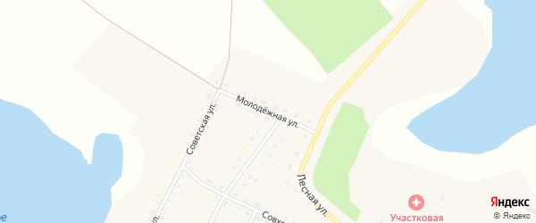 Молодежная улица на карте села Кочердыка с номерами домов