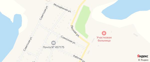 Лесная улица на карте села Кочердыка с номерами домов