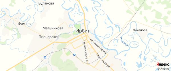 Карта Ирбита с районами, улицами и номерами домов