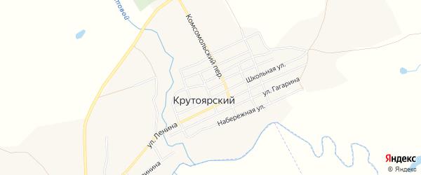 Карта Крутоярского поселка в Челябинской области с улицами и номерами домов