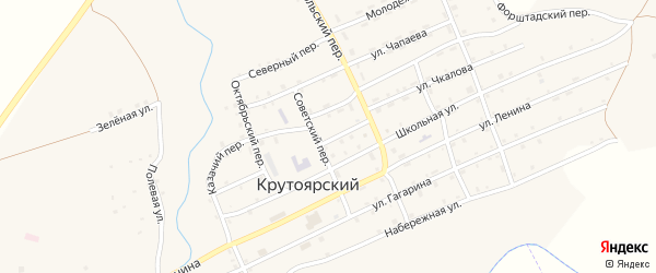 Улица Князькина на карте Крутоярского поселка с номерами домов