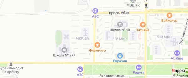 Улица Нестеренко на карте Байконура с номерами домов