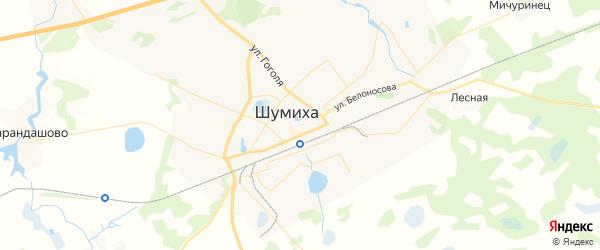 Карта Шумихи с районами, улицами и номерами домов