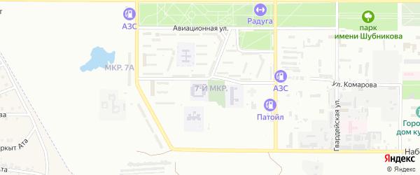 7-й микрорайон на карте Байконура с номерами домов