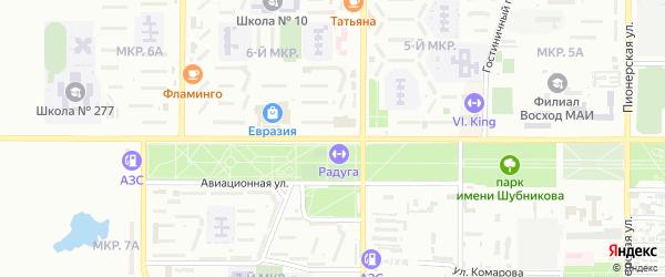 Улица Гагарина на карте поселка Тюры-Тама с номерами домов