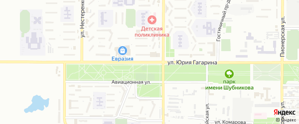 Улица Гагарина на карте Байконура с номерами домов
