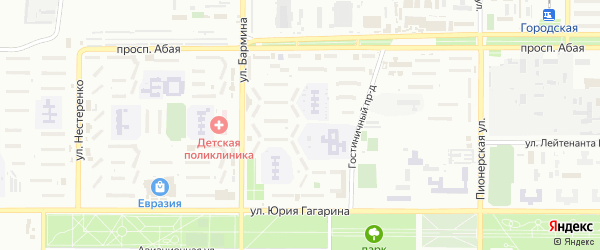 5-й микрорайон на карте Байконура с номерами домов