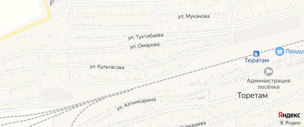 Улица Культасова на карте поселка Тюры-Тама с номерами домов