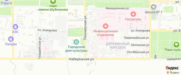 Первомайская улица на карте Байконура с номерами домов