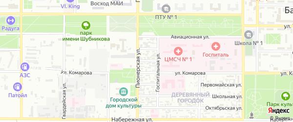 Новый переулок на карте Байконура с номерами домов