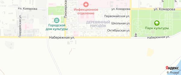 Набережная улица на карте Байконура с номерами домов