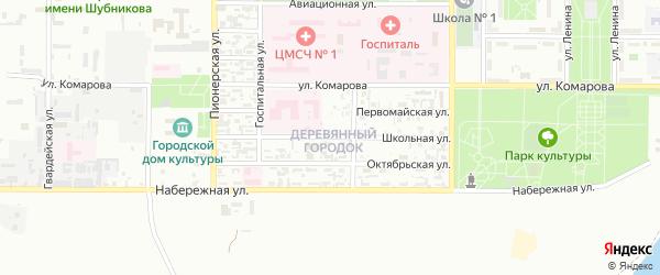 Школьная улица на карте поселка Тюры-Тама с номерами домов
