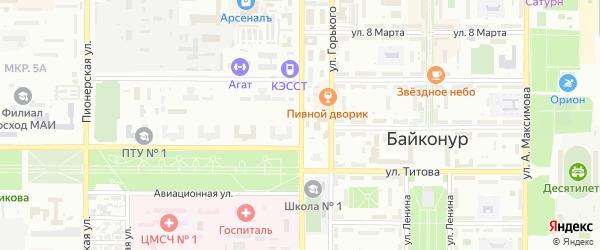 Советская улица на карте Байконура с номерами домов
