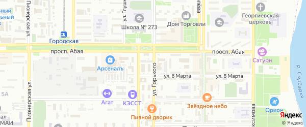 Улица Горького на карте Байконура с номерами домов