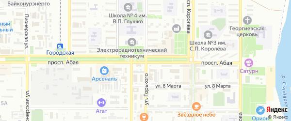 Улица Жанабаева на карте поселка Тюры-Тама с номерами домов