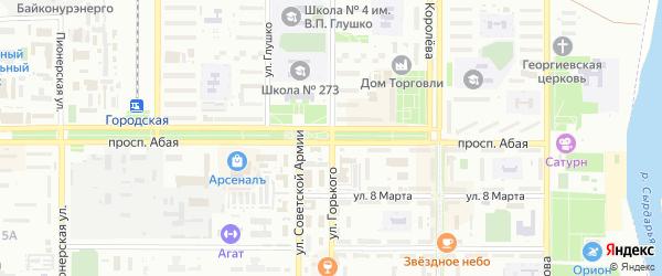 Улица им Космонавта Г.С.Титова на карте Байконура с номерами домов