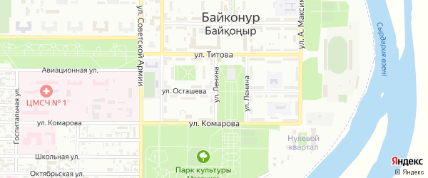 Улица Ленина на карте Байконура с номерами домов