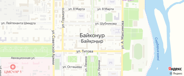 Улица Носова на карте Байконура с номерами домов