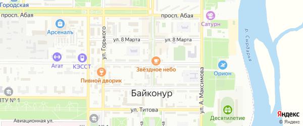 Улица Шубникова на карте Байконура с номерами домов