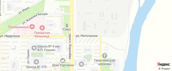 Улица Ниточкина на карте Байконура с номерами домов