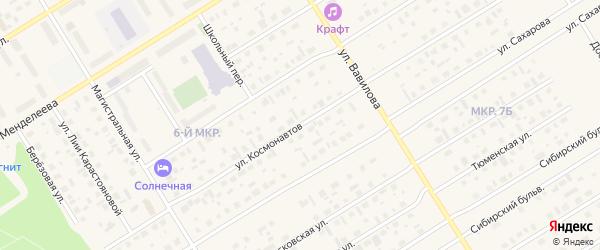 Улица Космонавтов на карте Югорска с номерами домов