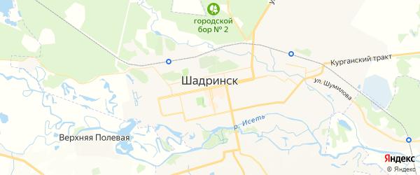 Карта Шадринска с районами, улицами и номерами домов