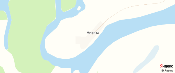 Карта деревни Никиты города Воркуты в Коми с улицами и номерами домов