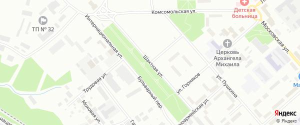 Шахтная улица на карте Воркуты с номерами домов