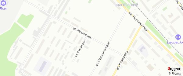 Улица Некрасова на карте Воркуты с номерами домов