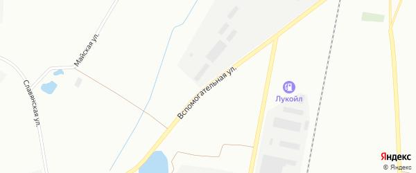 Вспомогательная улица на карте Воркуты с номерами домов