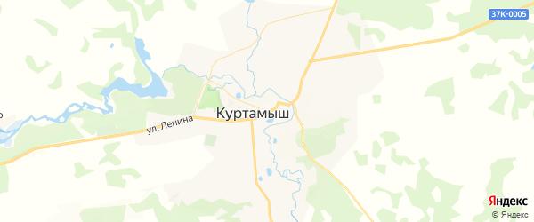 Карта Куртамыша с районами, улицами и номерами домов