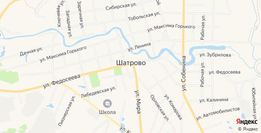 Карта села Шатрово в Курганской области
