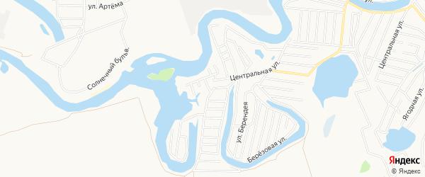 Карта садового некоммерческого товарищества Коммунальника 2 города Майкопа в Адыгее с улицами и номерами домов