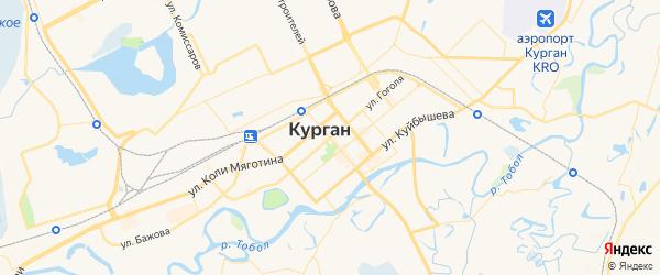 Карта Кургана с районами, улицами и номерами домов