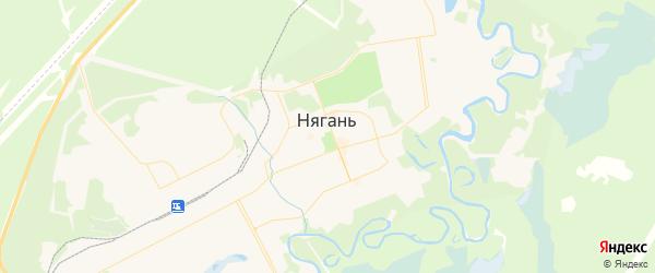 Карта Нягани с районами, улицами и номерами домов