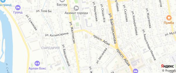 Улица Жахаева на карте поселка Тюры-Тама с номерами домов