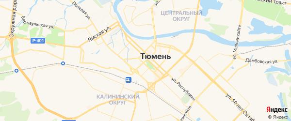 Карта Тюмени с районами, улицами и номерами домов
