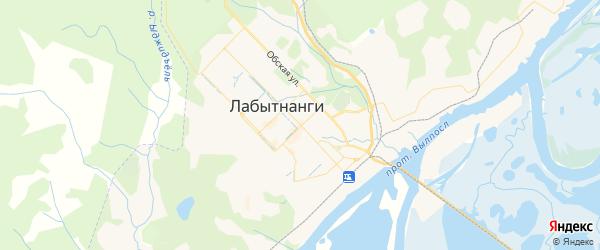 Карта Лабытнанги с районами, улицами и номерами домов