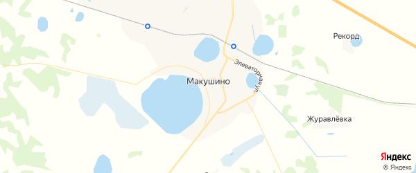 Карта Макушино с районами, улицами и номерами домов