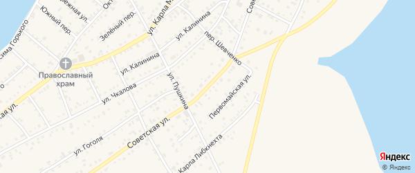 Советская улица на карте Петухово с номерами домов