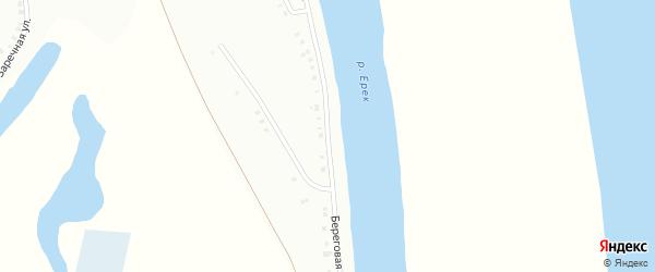 Береговая улица на карте садового некоммерческого товарищества Родника с номерами домов