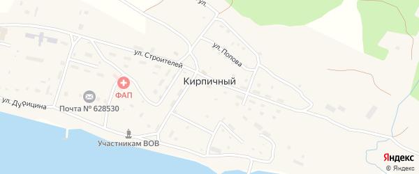Улица Кирпичный завод Заря на карте Кирпичного поселка с номерами домов