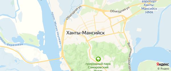 Карта Ханты-Мансийска с районами, улицами и номерами домов