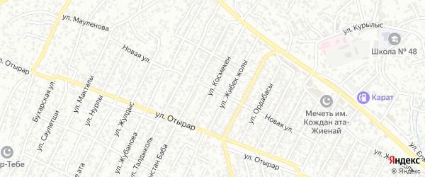 Новая улица на карте поселка Акая с номерами домов
