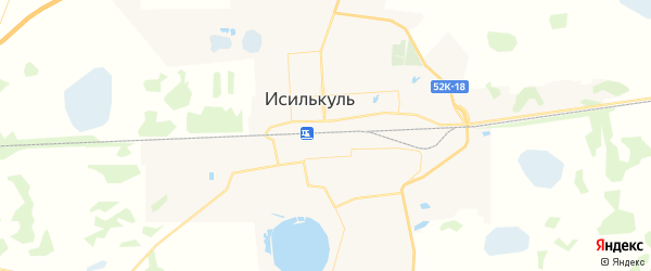 Карта Исилькуля с районами, улицами и номерами домов