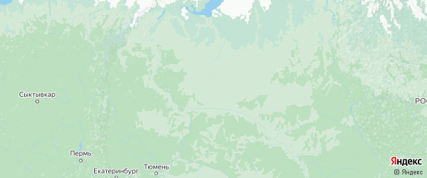 Карта Тюменской области с городами и районами