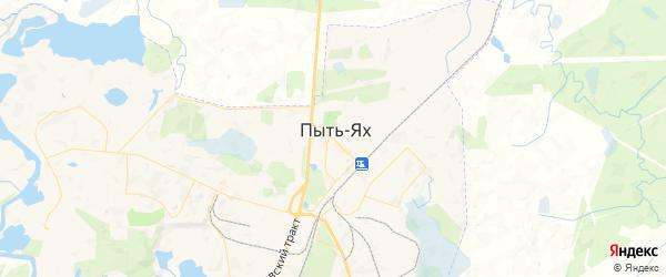 Карта Пыти-Ях с районами, улицами и номерами домов