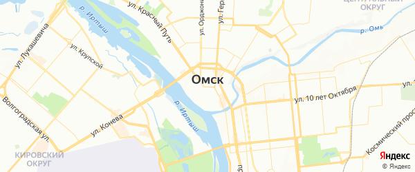 Карта Омска с районами, улицами и номерами домов
